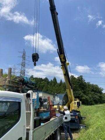 掘削機 荷下 タダノ12tクレーン GR-120NL 松阪クレーン